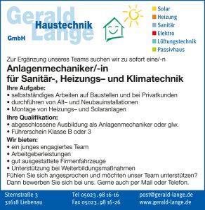 Wir suchen Anlagenmechaniker/-in für Sanitär-, Heizungs- und Klimatechnik